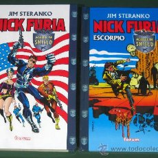 Comics: NICK FURIA + NICK FURIA: ESCORPIO - STERANKO - (MARVEL / FORUM) - NUEVOS -. Lote 112688226