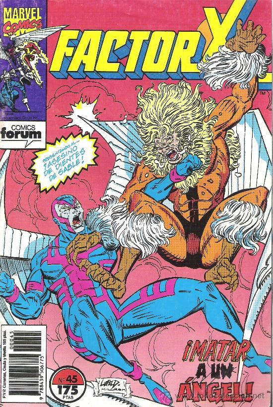 1 COMIC - AÑO 1990 - Nº 45 - FACTOR X - MATAR A UN ANGEL (EDITA FORUM - MARVEL) (Tebeos y Comics - Forum - Factor X)