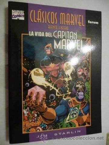 CLÁSICOS MARVEL EN BN. LA VIDA DEL CAPITÁN MARVEL. FORUM (Tebeos y Comics - Forum - Prestiges y Tomos)