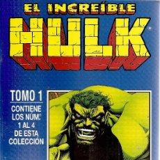 Cómics: EL INCREIBLE HULK TOMO Nº 1 CON LOS NUMEROS DEL 1 AL 4. Lote 148142141
