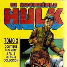 Cómics: EL INCREIBLE HULK TOMO Nº 3 CON LOS NUMEROS DEL 8 AL 13. Lote 148142208