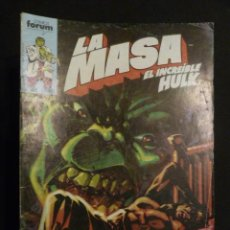 Cómics: LA MASA. EL INCREÍBLE HULK. Nº 31. FORUM. Lote 31433405