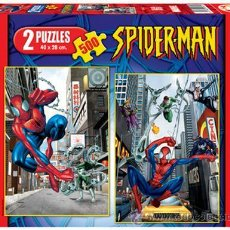 Cómics: SPIDERMAN - 2 X 500 PUZZLE SPIDERMAN. EDUCA.. Lote 191517637