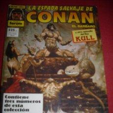 Cómics: FORUM LA ESPADA SALVAJE DE CONAN RETAPADO NUMEROS 65-66-67. Lote 31927952