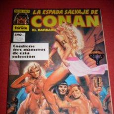 Cómics: FORUM LA ESPADA SALVAJE DE CONAN RETAPADO NUMEROS 80-81-82. Lote 31927958