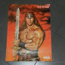 Cómics: (M) POSTER CONAN , EDC FORUM 1985 - 54 X 39 CM, MARCAS DE ESTAR PLEGADO. Lote 32058274