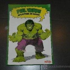 Cómics: (M) POSTER HULK - PIEL VERDE APLASTARR DE NUEVO - COMICS FORUM 1983 - 49 X 34 CM, MARCAS DE PLEGADO. Lote 32058581