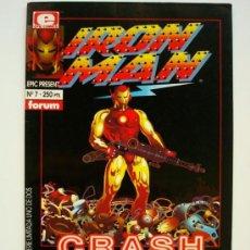 Cómics: IRON MAN - CRASH 1 - LA PRIMERA NOVELA GRÁFICA REALIZADA POR ORDENADOR - FORUM (MARVEL). Lote 32414735