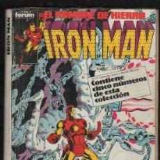 Cómics: IRON MAN. EL HOMBRE DE HIERRO. COMICS FORUM. TOMO CON 5 NUMEROS: 26,27, 28, 29 Y 30.. Lote 32610290