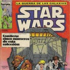 Cómics: CLASSIC STAR WARS. UNA NUEVA ESPERANZA. 2 PRESTIGIOS Y STAR WARS. RETAPADO DE FORUM. 01 AL 05. Lote 33083678