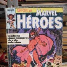Comics - MARVEL HÉROES VOL. 1 - RETAPADO - 5 NÚMEROS (26-27-28-29-30) - FÓRUM - PLANETA 1989 - 33109266