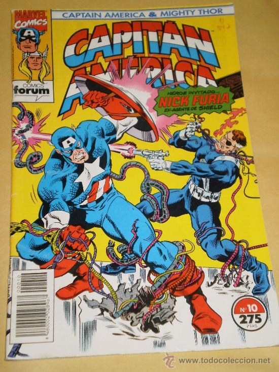 CAPITAN AMERICA , NUMERO 10 , VOLUMEN 2 . AÑO 1992 . COMIC A COLOR . (Tebeos y Comics - Forum - Capitán América)