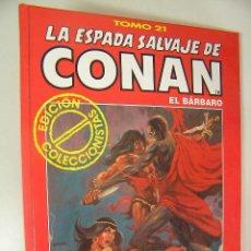 Cómics: LA ESPADA SALVAJE DE CONAN EL BARBARO TOMO ROJO 21 EDICION COLECCIONISTAS COMO NUEVO ,REF COMIC C1. Lote 33327747