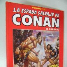 Cómics: LA ESPADA SALVAJE DE CONAN EL BARBARO TOMO ROJO 12 EDICION COLECCIONISTAS COMO NUEVO ,REF COMIC C1. Lote 33327754