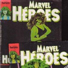 Cómics: HULKA MARVEL HEROES NºS 36, 37 Y 38 /POR: JOHN BYRNE. Lote 33735159