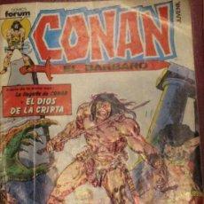 Cómics: CONAN EL BARBARO Nº 1 EL DIOS DE LA CRIPTA FORUM AÑO 1983. Lote 34022082