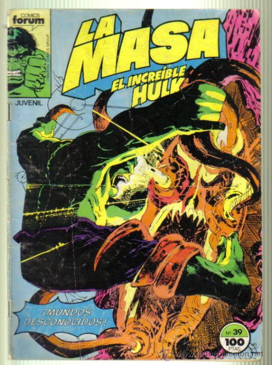 LA MASA. EL INCREIBLE HULK. MUNDOS DESCONOCIDOS Nº 39. (Tebeos y Comics - Forum - Hulk)