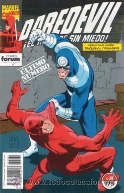 DAREDEVIL VOL. 2 # 31 (II-1992) ÚLTIMO NÚMERO. TERMINA POR FIN TU COLECCIÓN (Tebeos y Comics - Forum - Daredevil)