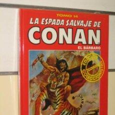 Cómics: LA ESPADA SALVAJE DE CONAN TOMO ROJO Nº 14 FORUM OFERTA. Lote 218148852