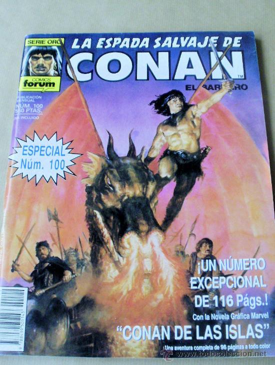LA ESPADA SALVAJE DE CONAN Nº 100 1ª EDICIÓN - CONAN DE LAS ISLAS - A COLOR (Tebeos y Comics - Forum - Conan)
