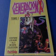 Cómics: GENERACION X TOMO 1 RETAPADO CON LOS NUMS. 01 AL 06 . Lote 34602905