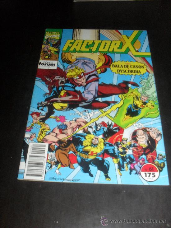 FACTOR X. Nº 61. VOL. 1. MARVEL COMICS. FORUM. (Tebeos y Comics - Forum - Factor X)