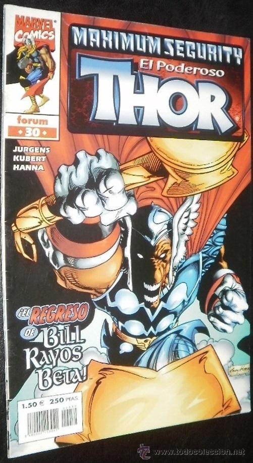 EL PODEROSO THOR Nº 30 VOL. IV JURGENS & KUBERT & HANNA COMICS FORUM - MARVEL COMICS (Tebeos y Comics - Forum - Thor)