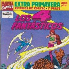Cómics: LOS 4 FANTÁSTICOS. FORUM. EXTRA DE PRIMAVERA DE 1992.. Lote 35838033