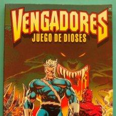 Cómics: VENGADORES JUEGO DE DIOSES FORUM 1996 MARVEL COMICS, HARRAS KAVANAGH DEODATO. Lote 36046256