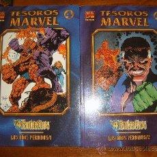 Cómics: TESOROS MARVEL LOS AÑOS PERDIDOS LOS 4 FANTÁSTICOS TOMOS 1 Y 2. Lote 36354755
