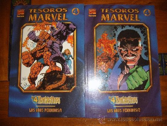 Cómics: TESOROS MARVEL LOS AÑOS PERDIDOS LOS 4 FANTÁSTICOS TOMOS 1 Y 2 - Foto 2 - 36354755