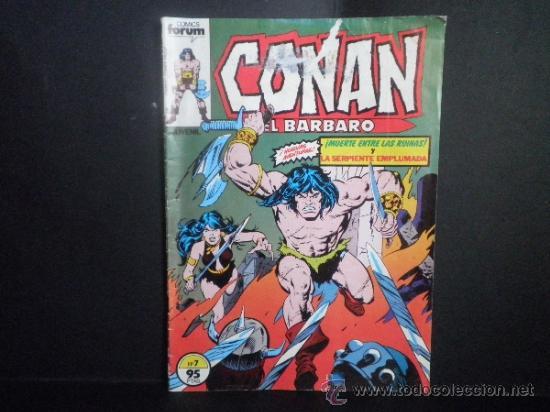 CONAN EL BARBARO - MUERTE ENTRE LAS RUINAS Y LA SERPIENTE EMPLUMADA - Nº 7 - COMICS FORUM (Tebeos y Comics - Forum - Conan)