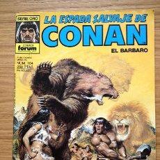 Cómics: LA ESPADA SALVAJE DE CONAN EL BÁRBARO Nº 104. Lote 36490875
