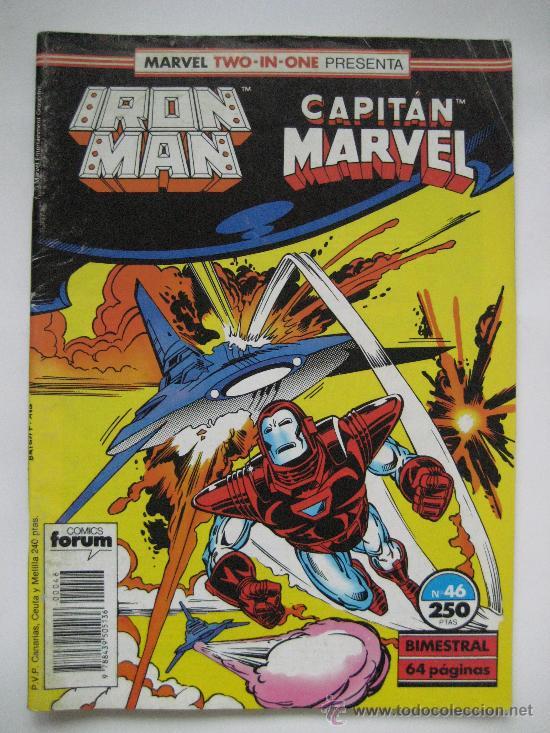IRON MAN Nº 46 VOL. 1. Y CAPITAN MARVEL. TWO-IN-ONE. FORUM (Tebeos y Comics - Forum - Iron Man)