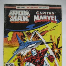 Cómics: IRON MAN Nº 46 VOL. 1. Y CAPITAN MARVEL. TWO-IN-ONE. FORUM. Lote 36792376