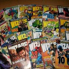 Cómics: LOTE REVISTAS WIZARD – COMICS – MARVEL – DC – DARK HORSE – IMAGE - ESPECIALIZADA – NºS 1 A 21 Y 23 –. Lote 36804569