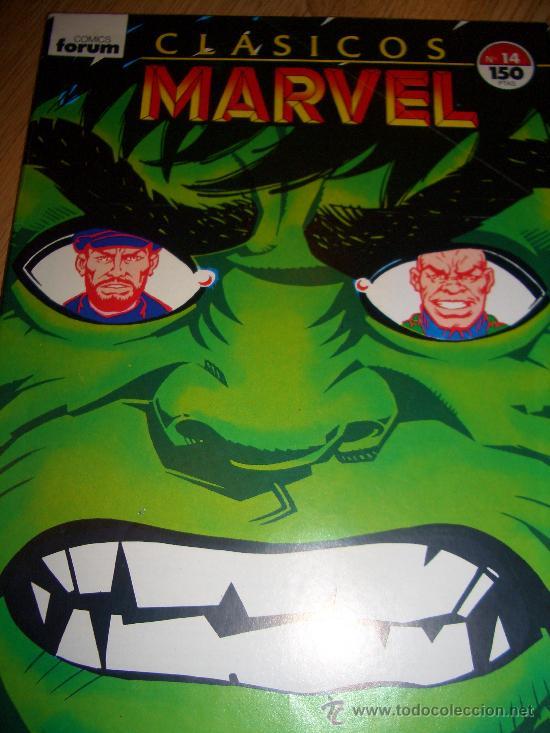 CLÁSICOS MARVEL 14 (FORUM, 1989) (Tebeos y Comics - Forum - Hulk)