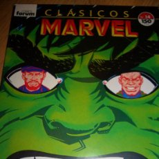 Cómics: CLÁSICOS MARVEL 14 (FORUM, 1989). Lote 36885193