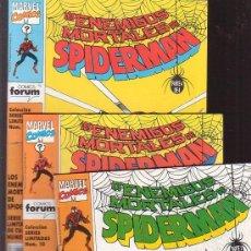 Cómics: LOS ENEMIGOS MORTALES DE SPIDERMAN, LOTE DE 3 EJEMPLARES Nº 1, 3, 4,. Lote 36887845