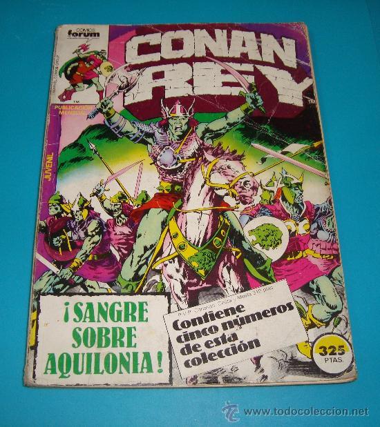 MARVEL COMICS GROUP CONAN REY, COMICS FORUN 5 NUMEROS (Nº 16, Nº 17, Nº18, Nº 19 Y Nº 20) (Tebeos y Comics - Forum - Conan)