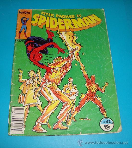 SPIDERMAN Nº 42 AÑO 1982 COMICS FORUN MARVEL COMICS GROUP (Tebeos y Comics - Forum - Spiderman)