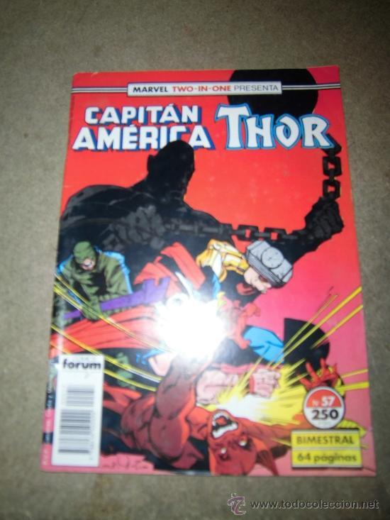 CAPITAN AMERICA THOR Nº 57 BIMESTRAL 1989 CON EL POSTER Nº 87 (Tebeos y Comics - Forum - Thor)