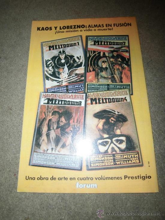 Cómics: X-MEN Nº 3 FORUM 1992 - Foto 3 - 36938513