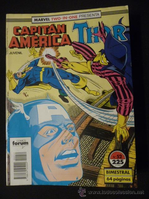 CAPITÁN AMÉRICA & THOR. VOL 1. Nº 52. FORUM (Tebeos y Comics - Forum - Capitán América)