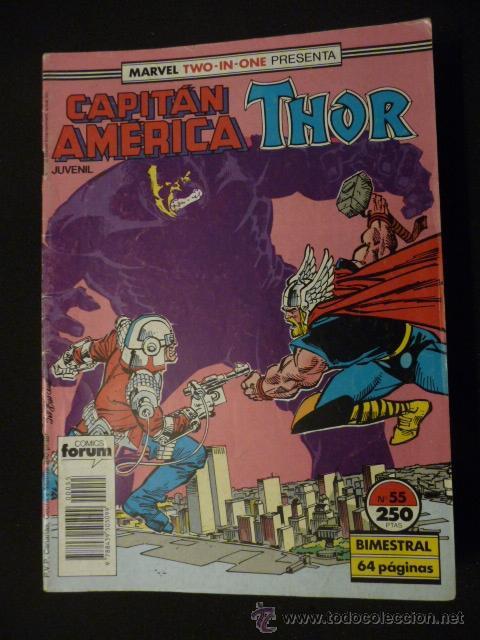 CAPITÁN AMÉRICA & THOR. VOL 1. Nº 55. FORUM (Tebeos y Comics - Forum - Capitán América)