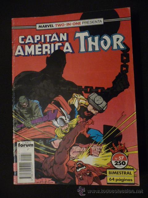 CAPITÁN AMÉRICA & THOR. VOL 1. Nº 57. FORUM (Tebeos y Comics - Forum - Capitán América)