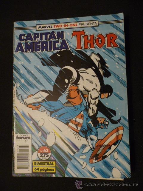 CAPITÁN AMÉRICA & THOR. VOL 1. Nº 63. FORUM (Tebeos y Comics - Forum - Capitán América)