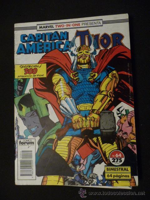 CAPITÁN AMÉRICA & THOR. VOL 1. Nº 64. FORUM (Tebeos y Comics - Forum - Capitán América)