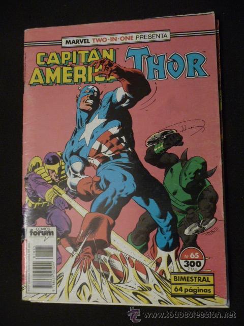 CAPITÁN AMÉRICA & THOR. VOL 1. Nº 65. FORUM (Tebeos y Comics - Forum - Capitán América)