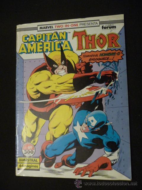 CAPITÁN AMÉRICA & THOR. VOL 1. Nº 69. FORUM (Tebeos y Comics - Forum - Capitán América)